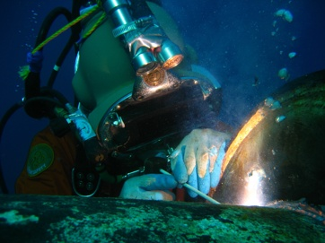 آموزش جوشکاری زیر آب